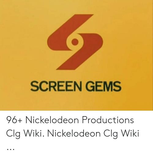 SCREEN GEMS 96+ Nickelodeon Productions Clg Wiki Nickelodeon.