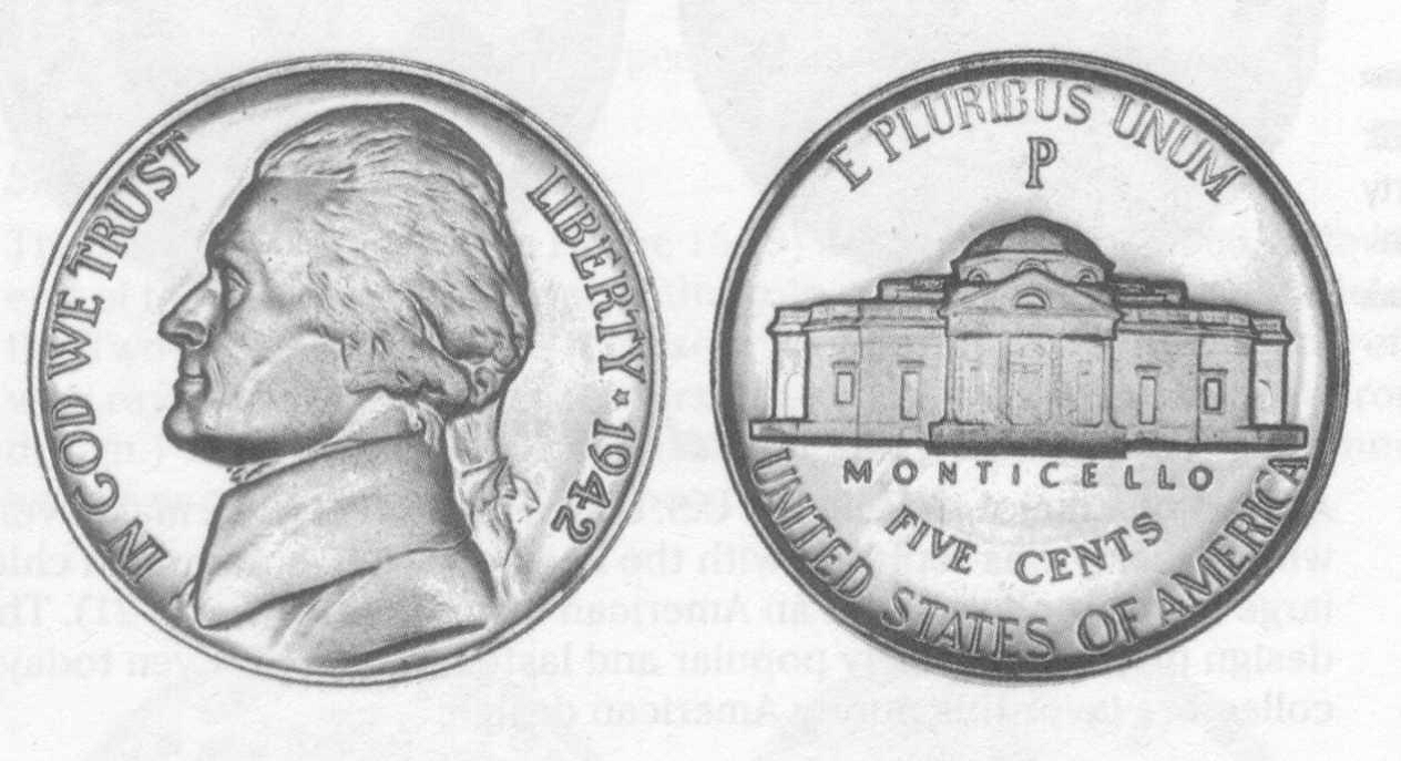 Penny front and back clipart.