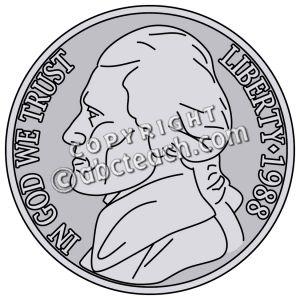 Clip art nickel.