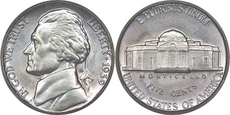 Nickel front and back clipart.