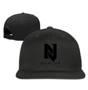 Details about Baseball Hats Nicky Jam Singer Logo El Perdón Flat Cap Black.