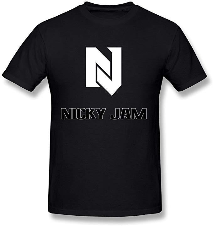 Amazon.com: FEDNS Men\'s Nicky Jam Logo T Shirt: Clothing.