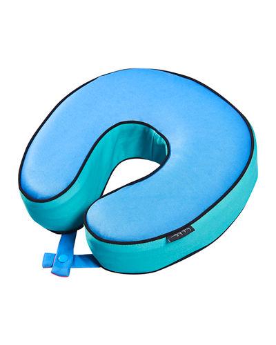 Colorblock Memory Foam Travel Pillow.
