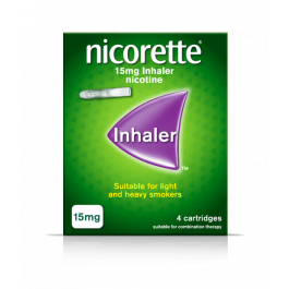 Nicorette 15mg Inhaler Nicotine Cartridges.