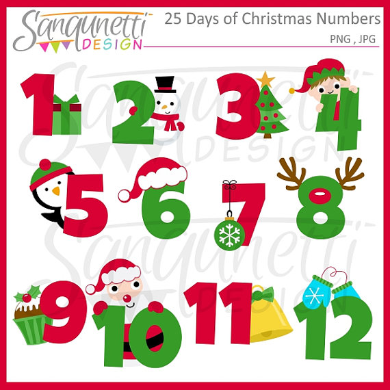 50% OFF 25 Days of Christmas Clipart by SanqunettiDesigns on Etsy.