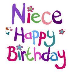 Happy Birthday Niece Clipart.