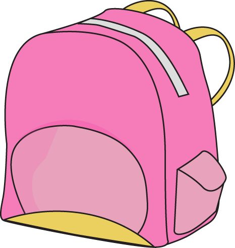 girl with backpack clipart pink - Clipground