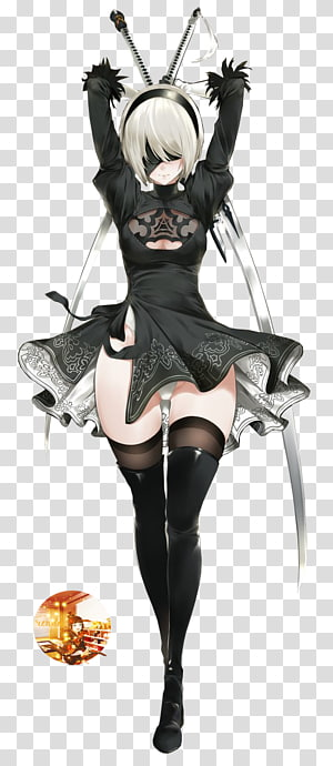 Nier Automata transparent background PNG cliparts free.