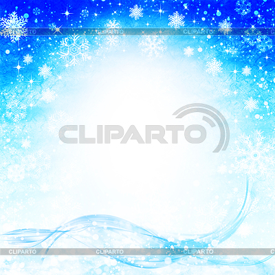 Fondos de invierno abstracto con copos de nieve cayendo.