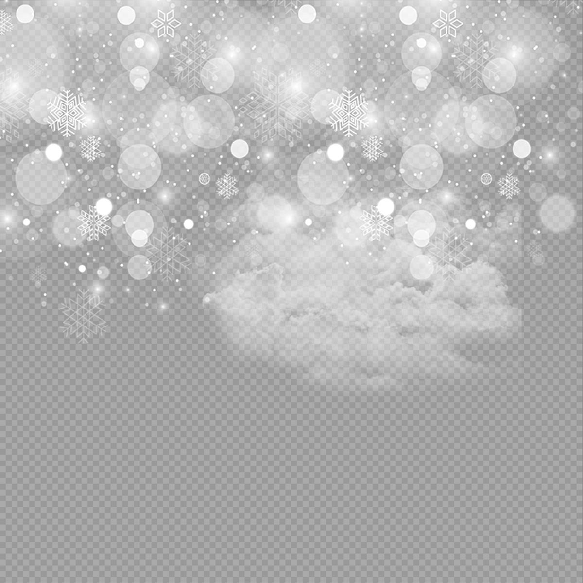 Nieve Nieve, Efecto De Luz De Los Copos De Nieve, Efecto De.