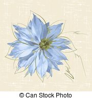 Nigella Vector Clipart Royalty Free. 10 Nigella clip art vector.