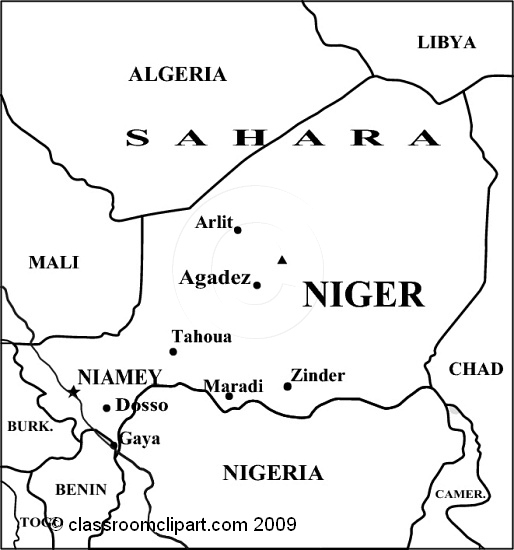 Niger Map Clipart.