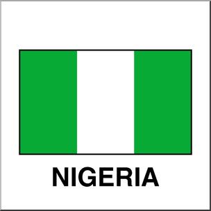 Clip Art: Flags: Nigeria Color I abcteach.com.