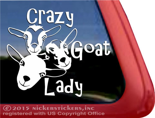 Crazy Goat Lady Decals & Stickers.