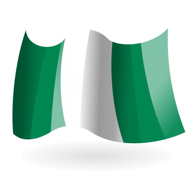 Nigerian state flag clip art.