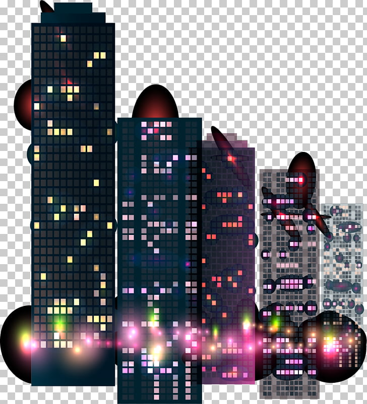 Building Night City, City Night Buildings PNG clipart.