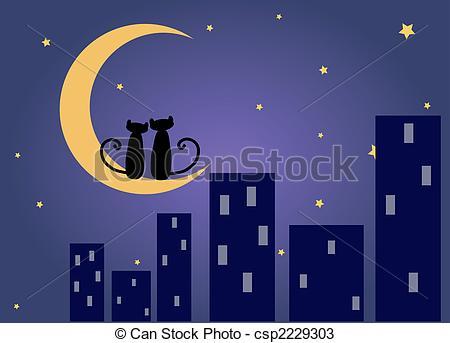 Night Cityscape Clipart (20+).