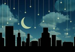 Night Cityscapes Clipart.