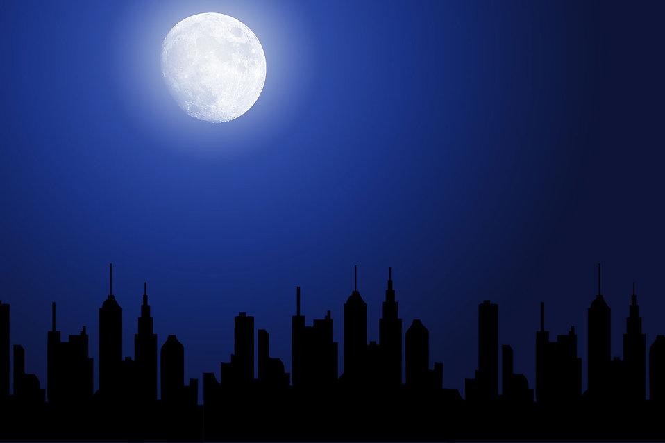 Similiar Cityscape And Moon Keywords.