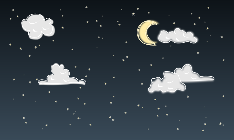 Moon And Stars At Night Clipart.