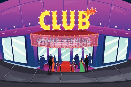 Showing post & media for Nightclub building cartoon.