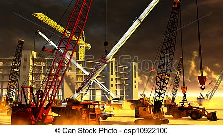Stock Illustration of Construction site.
