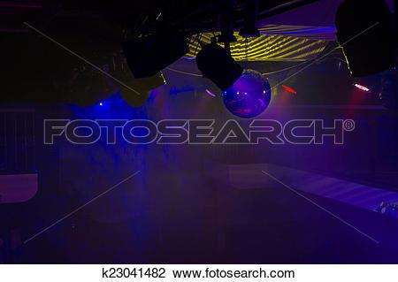 Stock Photo of Dramatically Lit Empty Night Club k23041482.