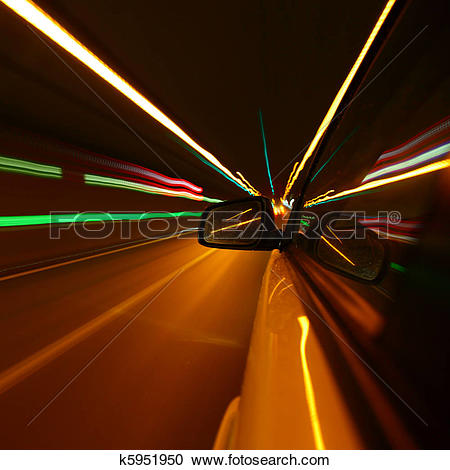 Stock Photography of night drive k5951950.