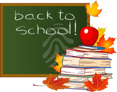 Back to school fall clipart.