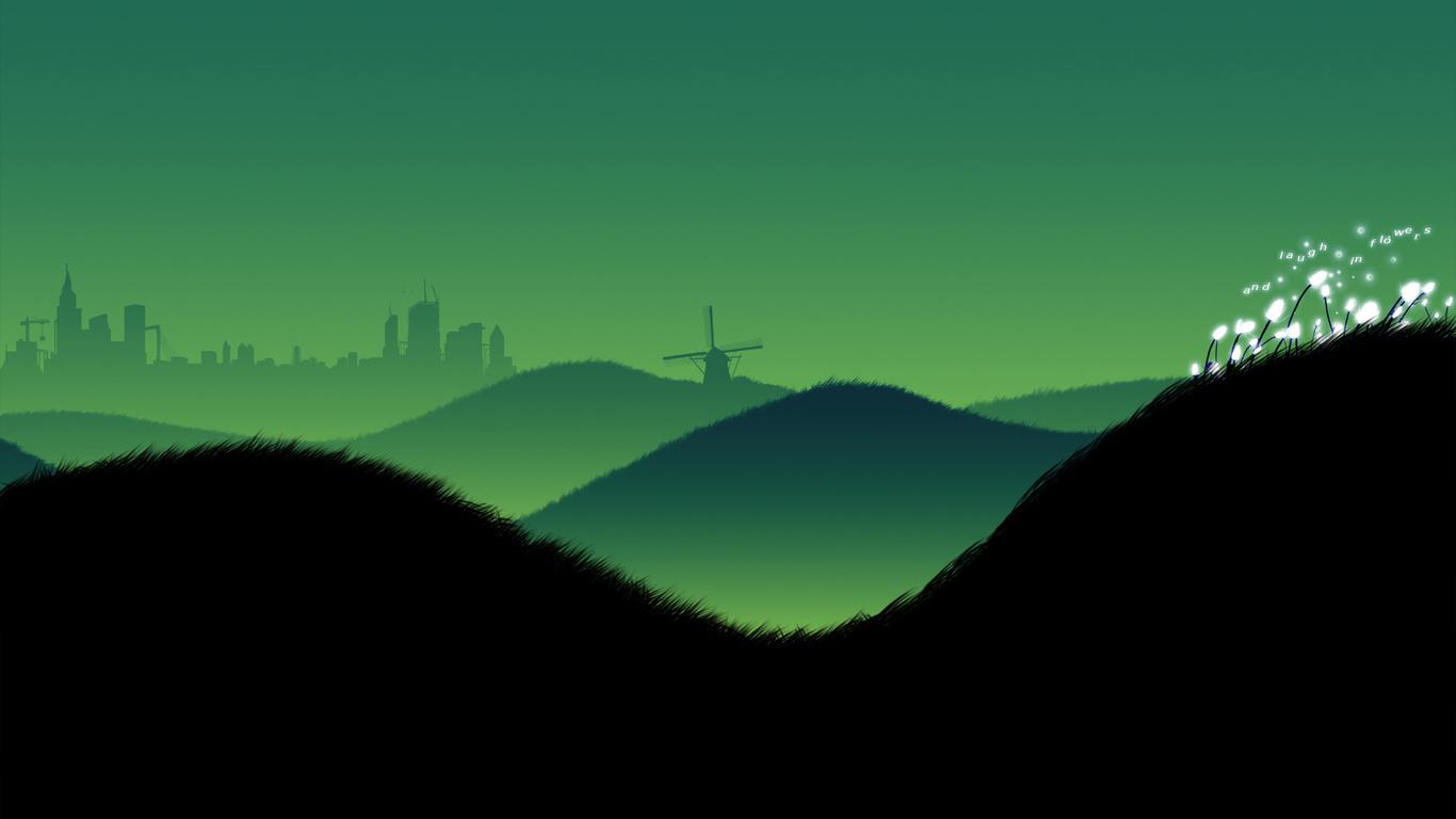 Landscape clipart 1366x768.