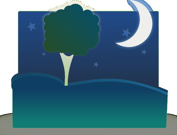 Landscape By Night Clip Art at Clker.com.