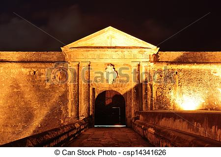 Stock Photo of El Morro castle at old San Juan, Puerto Rico at.