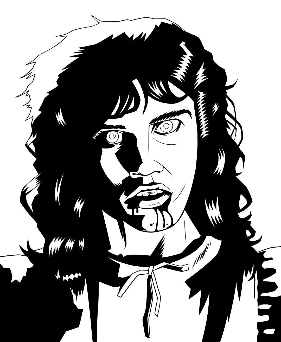 Ian Jepson — Inktober day 30: Zombie from Night of The Living.