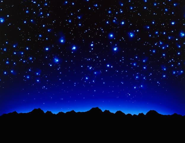 Stars night clipart.