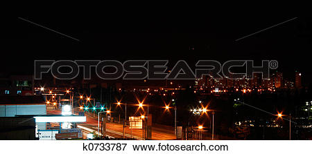 Stock Illustration of Night Photography k0733787.