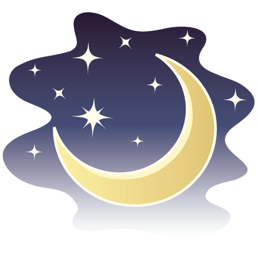 moon and stars night png image.
