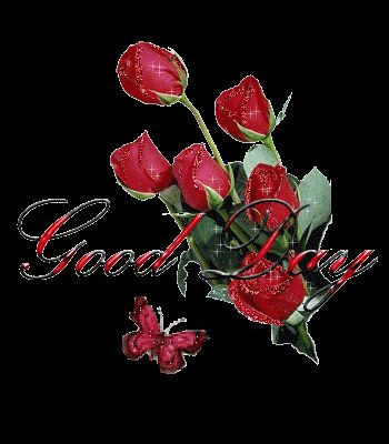 Red rose good night clipart.