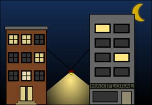 Building Night Scene Clip Art at Clker.com.