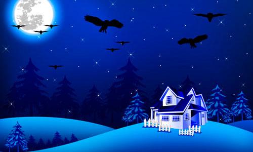 Illustrator Tutorial: Night Scene.