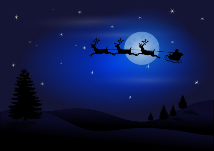 Beautiful Night Scenery Clipart.