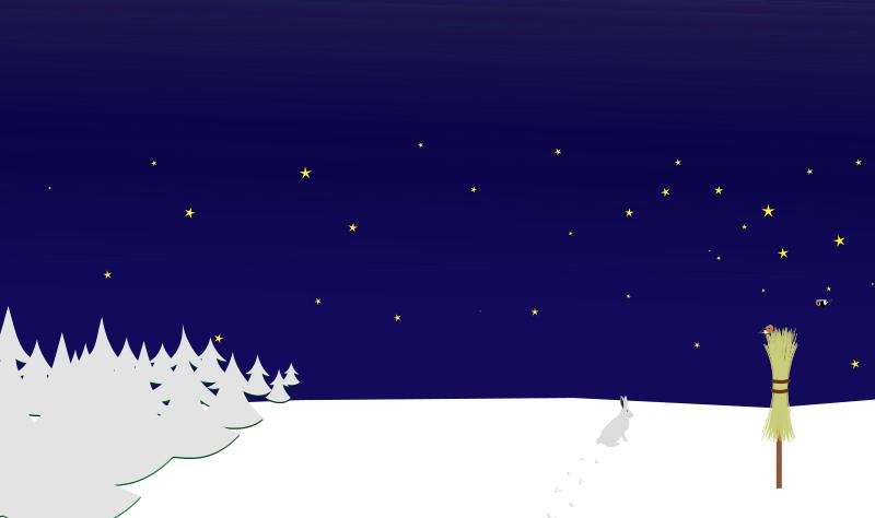 Winter night scenes clipart.