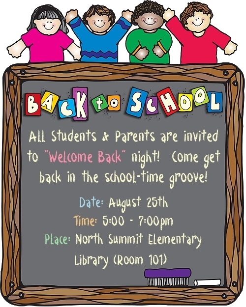 Free Clipart For Back To School Night.