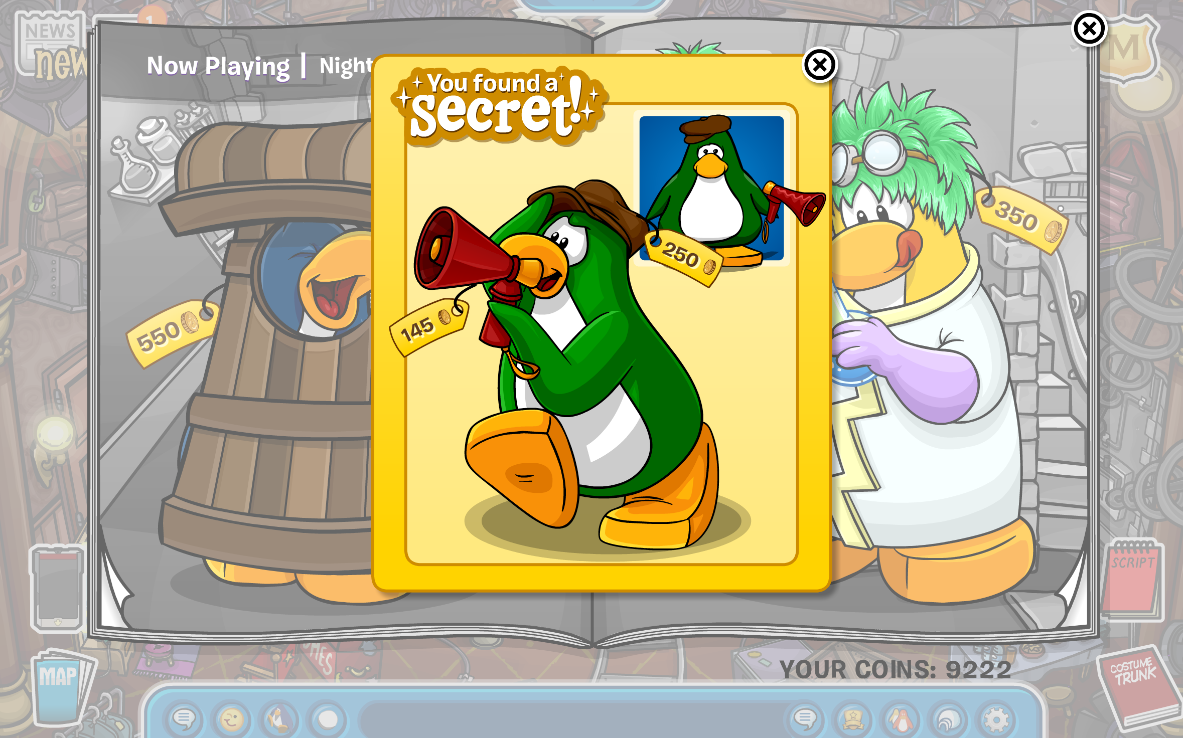 Club Penguin: Night of the Living Sled: At the Stage.