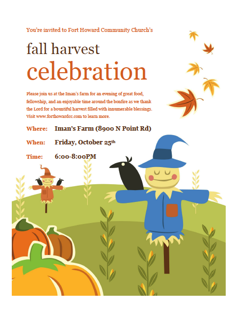 Fort Howard Community Church: Fort Howard, MD > Harvest Night.