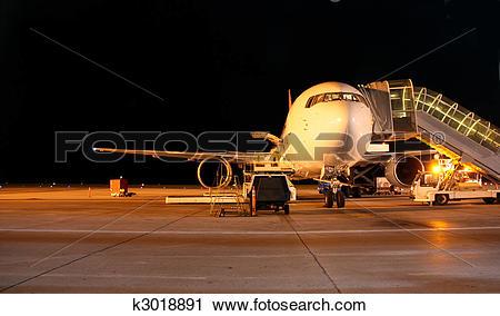 Stock Photography of Plane night shot k3018891.