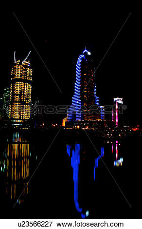 Picture of dubai, marina, grosvernor, house, night, shot, evening.