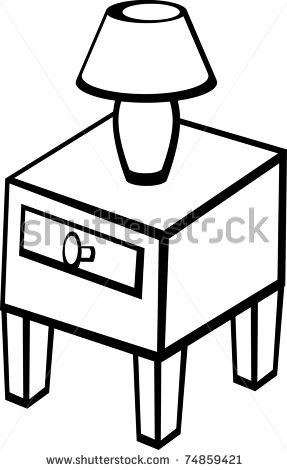 Bedside table clipart  Nightstand clipart - Clipground