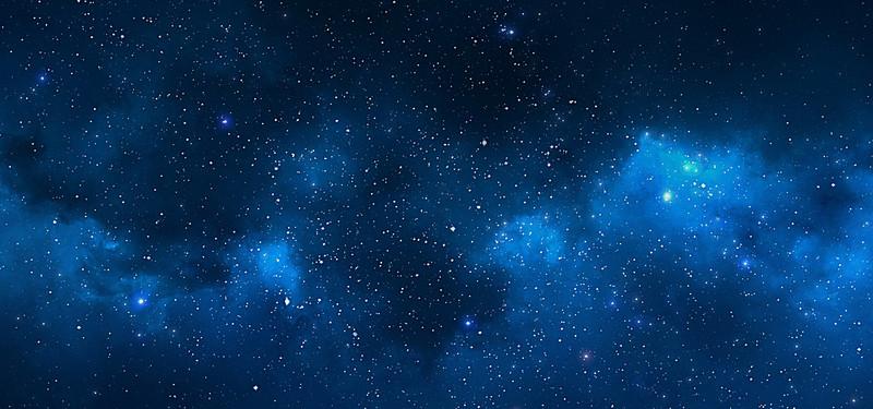 Night Sky Star Background Material Blue, Night, Sky, Star.