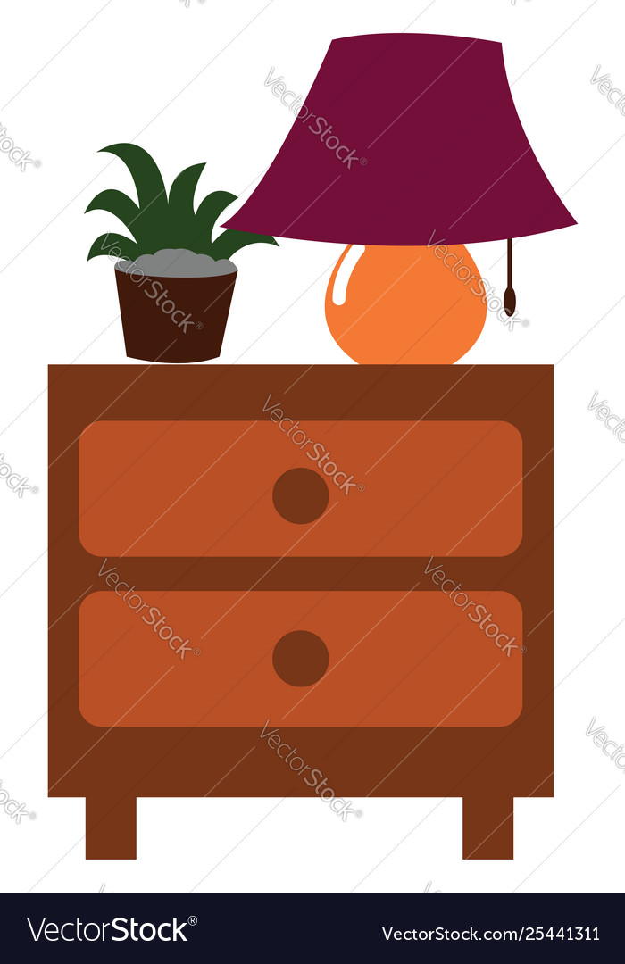 Clipart a nightstand side table with two.