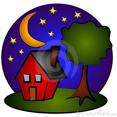Showing post & media for Cartoon night time clip art.